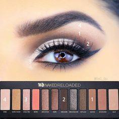 Smokey Eyes, Smokey Eye Makeup, Skin Makeup, Eye Makeup Steps, Makeup Eye Looks, Makeup Tips, Makeup Goals, Makeup Ideas, Makeup Tutorials