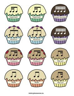 Rhythm Muffin Printable