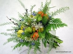 Wildflower bouquet / Rustic love the ferns and greenery making green an accent color
