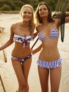 I lovvvve the bikini on the left! The Bikini, Bikini Babes, Sexy Bikini, Bikini Models, Summer Of Love, Summer Beach, Summer Time, Beach Bum, Cute Swimsuits