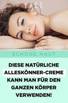 Schöne Haut: Diese natürliche Alleskönner-Creme kann man für den ganzen Körper verwenden!#hautpflege #alleskönner #creme #bodylotion #gesichtscreme #beauty #haut #skincare #ellegermany Peeling, Creme, Beauty, Pimple, Nice Asses, Beleza, Cosmetology