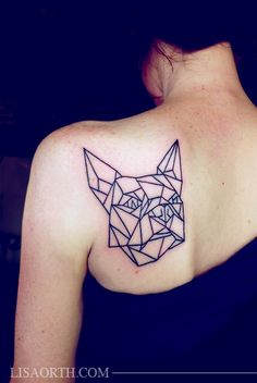 Geometric Linework Tattoo by Lisa Orth