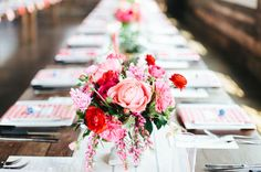 peony centerpiece (http://greenweddingshoes.com/texas-warehouse-wedding-emily-matt/)