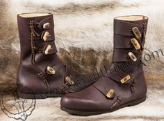 Early medieval leather boots | Wulflund