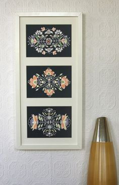 Floral Print Set of 3 5 x 7. $22.00, via Etsy.
