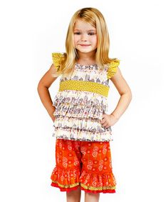 Look at this Yellow Bee Sweet Sammi Tunic & Pants - Infant, Toddler & Girls on #zulily today!