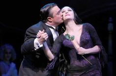 Shortly after the overture starts, you hear the familiar Addams Family theme song. That's our cue the fun is about to start in this new Broadway musical comedy Addams Family Broadway, Addams Family Morticia, Addams Family Tv Show, Samhain, New York Entertainment, Bebe Neuwirth, New Broadway Musicals, Creepy, Scary