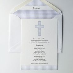First Communion Invitation  by LabelCircus
