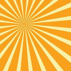 Yellow Sunbeams Vector Background