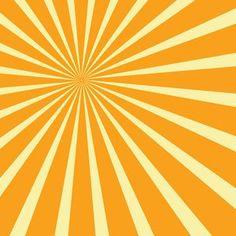 Yellow Sunbeams Vector Background