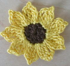 Sunflowers Daisies Small Appliques by IreneStitches on Etsy