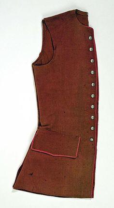 Waistcoat 18th century American Note: looks like unlined wool