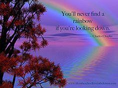 Keep Your Chin Up (Sedona Clearing House) Tags: tree water words rainbow purple quote lilac ripples wisdom grief rainbowbridge chaplin