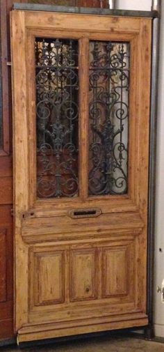Single French Oak Door c.1860 : imported doors - Pezcame.Com