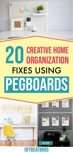 Organize every room in your home with these pegboard organization ideas. These are perfect organizing ideas for the home by using a pegboard. Organize your kitchen, bathroom, craft room, garage and more with these pegboard ideas. Bathroom Sink Organization, Pegboard Organization, Sink Organizer, Small Space Organization, Home Office Organization, Organizing Your Home, Organization Ideas, Ikea Pegboard, Kitchen Pegboard