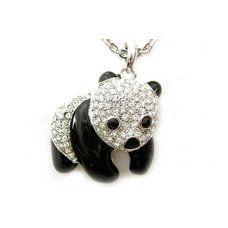 228 la vantage drol liger and meil unna///lavantage drolliger kristall panda baer mit kette von meilunna
