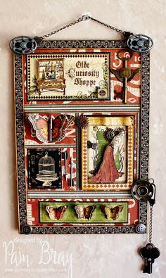 Scrapbook Flair: Pam Bray Designs: Olde Curiosity Shoppe Shadowbox with Xyron!!!!