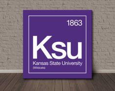 Kansas State University Periodic Table Canvas Wall Art