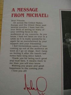 And we L<3VE you more, Michael! Thank you <3