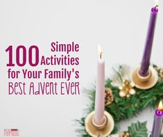 Advent doesn't have to be stressful, nor must it be complex. Here are 100 simple activities for your family's best Advent ever, from traditions, prayers, and devotions to music, books, movies, and crafts.  This post contains affiliate links. I receive a small commission on the sale of certain items linked in this post. Please see my disclosure policy for details.for us to grow closer Maybe you're a lot like me, and you're not the master at living liturgically. Maybe Advent has...