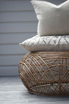 loving this ottoman, into cane & rattan at the moment...  Love Loans + Linen   Palm Beach 2108