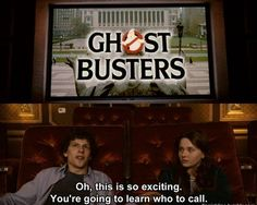 Two of the best movies GhostBusters, and Zombieland. What could be better?