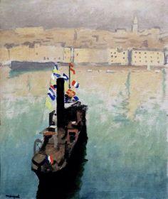 The decked Boat , Marseille , Cognac Museum  Albert Marquet  Year 1916