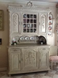 Antique Louis XV French Provencial Buffet Sideboard Cabinet in Oak