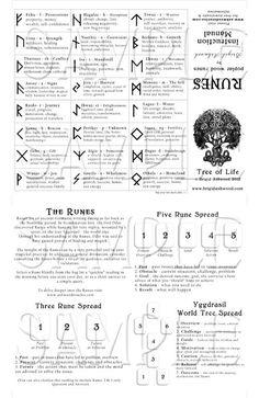Wood Runes - Viking Norse Pagan Runes - Magic Divination Oracle