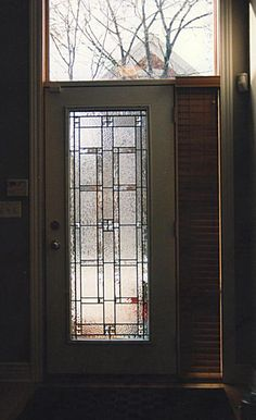 Mahogany Double Door With Leaded Glass I Always Wanted To