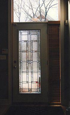 simple and elegant front door panel for new door Leaded Glass, Beveled Glass, Glass Doors, Fused Glass, Stained Glass, Front Door Entrance, Front Entrances, Front Entry, Front Doors