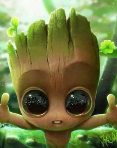 Is this Baby Groot, the baby Baby Groot? He is so adorable 😍 ctto Cute Disney Drawings, Cute Animal Drawings, Kawaii Drawings, Cute Drawings, Cute Cartoon Wallpapers, Cute Wallpaper Backgrounds, Wallpaper Iphone Cute, Baby Wallpaper, Animal Wallpaper