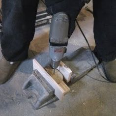 Hammer Drill: Combines a rotating and hammer action that chisels its way through the stone, creating a clean round hole.
