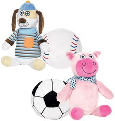 "Tiny Tillia Sports Pillow Plush- two toys in one! Your favorite Tiny Tillia pal (14"" L x 9"" W) transforms into a cuddly sports ball (9"" diam.). Polyester. Imported. Shop online at tashina.avonrepresentative.com"