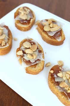 Fig and Manchego Crostini's