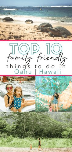 Top 10 family friendly things to do in Oahu Hawaii! Our daughter was years old during this trip and loved it! She still talks about it today when she looks at all the photos! Enjoy these great places for toddler kids families and everyone in Oahu Hawaii. Hawaii Hikes, Oahu Hawaii, Hawaii Travel, Maui, Usa Travel, Italy Travel, Kailua Beach, Waikiki Beach, Bora Bora