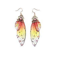 Purple Earrings, Wing Earrings, Butterfly Earrings, Gold Drop Earrings, Rhinestone Earrings, Dangle Earrings, Dragonfly Wings, Butterfly Wings, Ear Jewelry