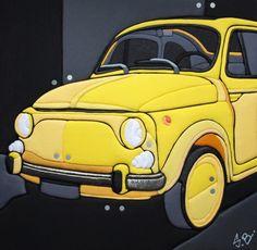 """Sculture Vestite di Stefano Bressani """"Fiat 500 Estatina"""" 50x50x4 cm - 2012 Opera n° 181 All right reserved © (Private Collection)"""