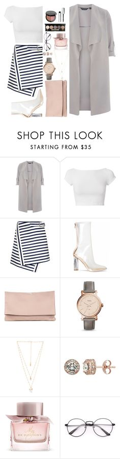 """""""Winter Pretty"""" by amourparisamour ❤ liked on Polyvore featuring Dorothy Perkins, Helmut Lang, Carven, Sole Society, FOSSIL, Natalie B, Burberry and Bobbi Brown Cosmetics"""