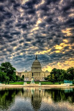 Capitol - Sunset at the Capital in Washington, DC