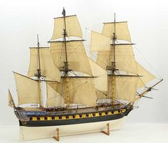 Ship model 18th century French 40 gun frigate