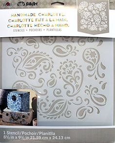 #FolkArt #Plaid 30948 Laser Cut Painting Stencils, 8-1/2 by 9 1/2-Inch, Paisley Delight Rachel Faucett, the author-designer behind the popular blog, Handmade Char...