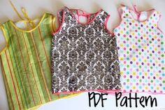 kids art smock---free pattern