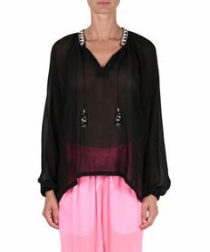 AMEN Viscose georgette blouse with embroidery. #amen #cloth #embroidery
