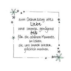 Charmant Handgemachte Geburtstagskarte Mit Blumenrand Und Glitzer   Zum Geburtstag  Alles Liebe Und Immer Genügend Zeit Für