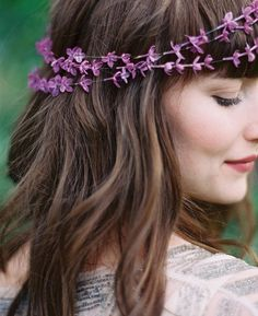 strung lilac crown