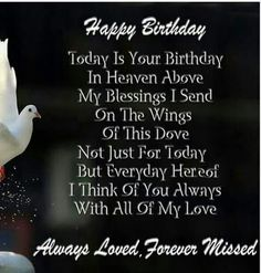 Sad Happy Birthday In Heaven Images For You. Father & Mother Happy Birthday In Heaven Images To Wishes Them. Celebrated With Happy Birthday In Heaven Images. Birthday Wishes In Heaven, Today Is Your Birthday, Birthday Wishes Greetings, Birthday Poems, Birthday Message, Birthday Images, Birthday Cards, Happpy Birthday, Happy Birthday Mom
