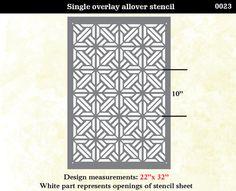 Wall Stencil  Geometric  Shapes Arrow  Pattern Wall by OMGstencils,