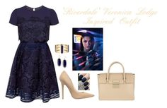 'Riverdale' Veronica Lodge Inspired Outfit by a-torres2018 on Polyvore featuring polyvore, fashion, style, Ted Baker, Jimmy Choo, Furla, Kendra Scott, OPI, clothing, Inspired, ArchieComics, VeronicaLodge and riverdale