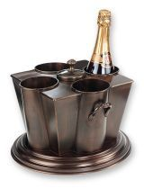 @Overstock - Serve chilled wine, champagne, even bottled waters in style with antique, embossed wine chillerCooler features rich, dark antique copper finishWine chiller includes separate ice compartment with coverhttp://www.overstock.com/Home-Garden/Antique-Embossed-Four-bottle-Wine-Chiller/3864767/product.html?CID=214117 $109.99